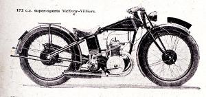 La 175 Mc Evoy Super Sport à moteur Villiers de 1927. La hauteur de selle n'est que de 600 mm