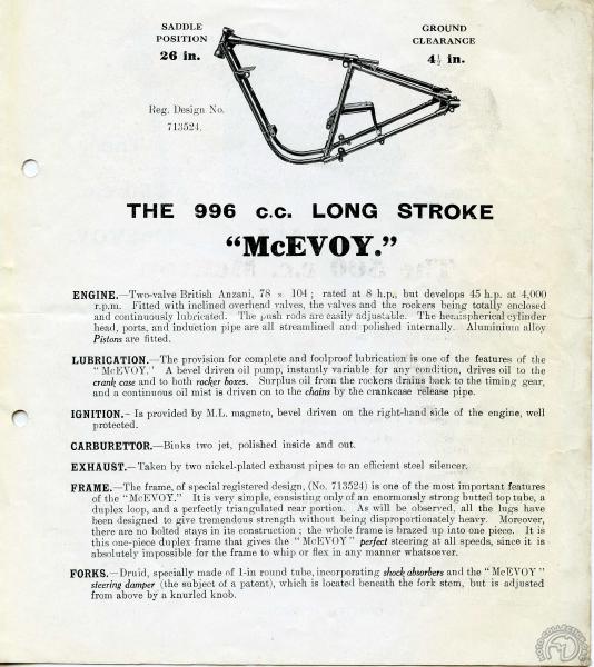 La 1000 Mc Evoy a abandonné son original triple berceau pour un double berceau moderne et classique.