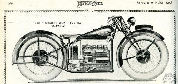 Ce dessin légendé 600 cm3 (publié dans le numéro du salon de MotorCycle du 8 novembre 1928) et la photo publiée ensuite et annoncée comme une 1000 cm3, différent sur de nombreux détails.