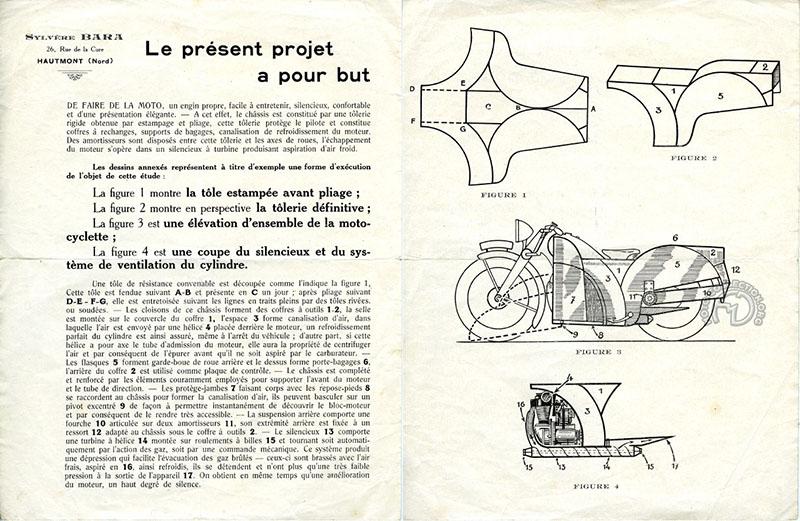 Le brevet de Sylvère Bara en 1930
