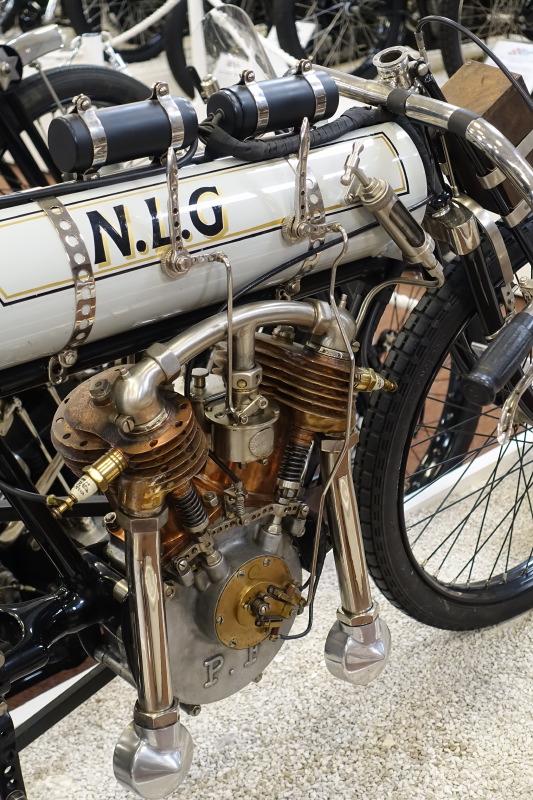 La NLG 1000 à moteur Peugeot Frères de 1908 au National Motor Museum de Birmingham. photo f-M. Dumas