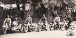 Etonnante réunion de cinq New Motorcycle en 1929