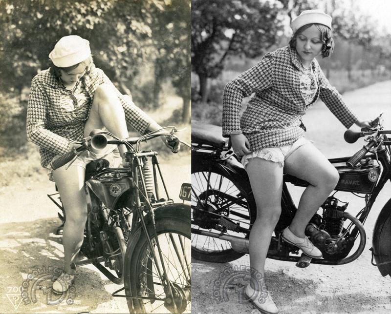 Un scooter eut sans doute été plus facile à enfourcher, mais au moins cette levée de jambe nous laisse-t-elle admirer le ravissant petit moteur Moser 175 quatre temps culbuté. Il s'agit donc d'une rare Ravat C6 Sport de 1926