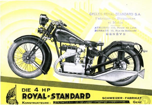 Royal Standard1929: L'idéal suisse