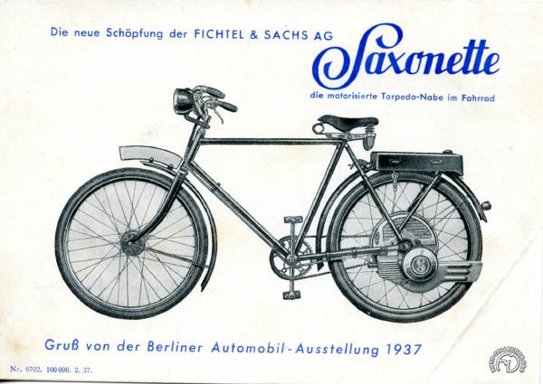 Carte postale publicitaire ditribuée au salon de Berlin 1937.