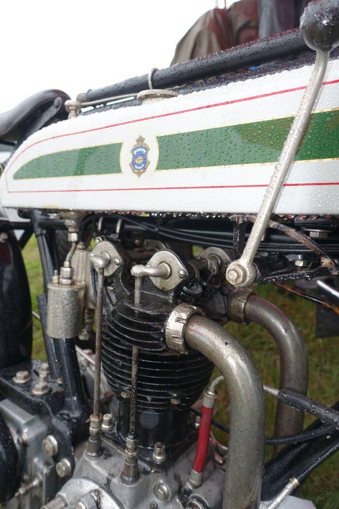 La très rare Triumph 500 Riccardo à 4 soupapes de 1921.
