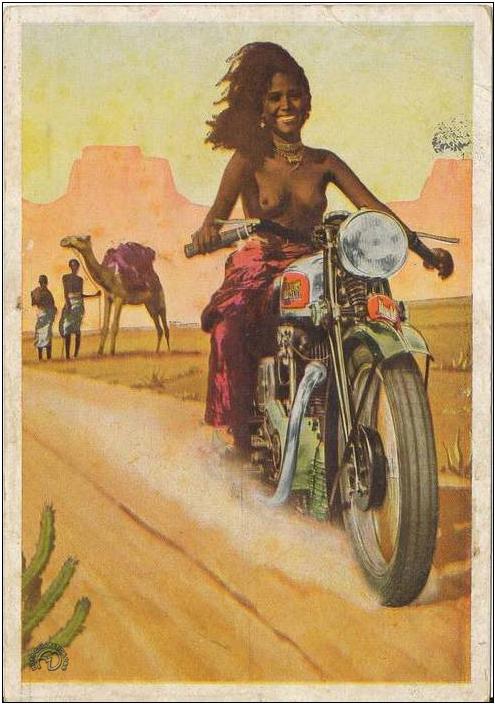 L'Abysinienne était même disponible en carte postale