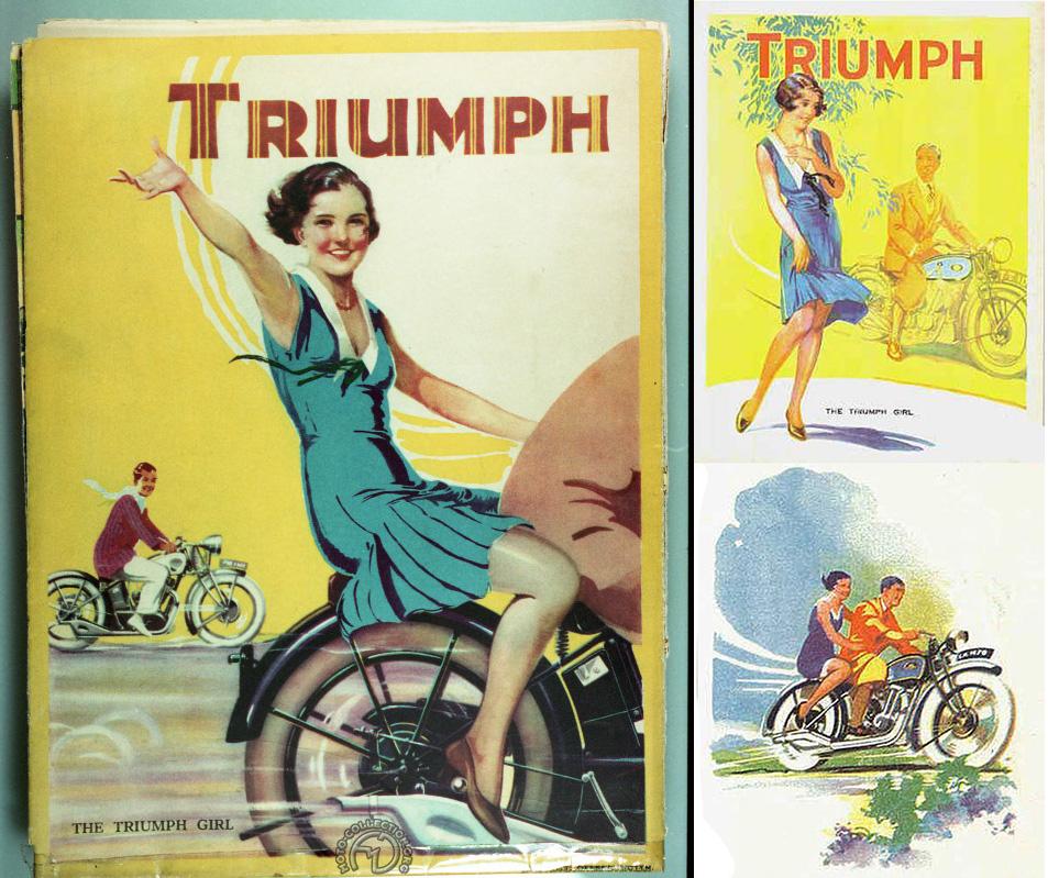 Catalogue Triumph 1931. La Triumph girl est partout