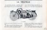 """Présentation de la Viratelle 350 dans """"La Moto"""" en 1921."""