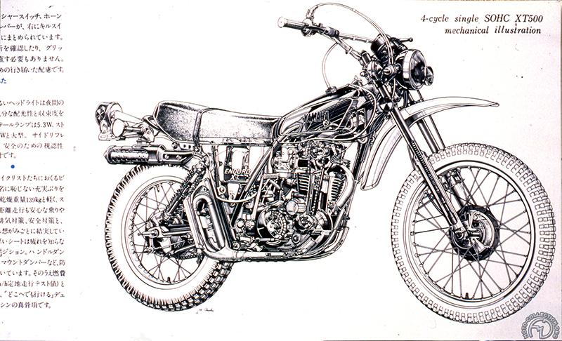 yamaha xt 500 prototype 1973 moto collection. Black Bedroom Furniture Sets. Home Design Ideas