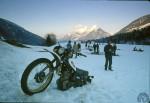 Camping lors de la Croisière blanche en janvier 1980… le ruisseau courrait sous la neige !