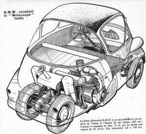 L'Isetta est la première BMW à transmission finale par chaîne !