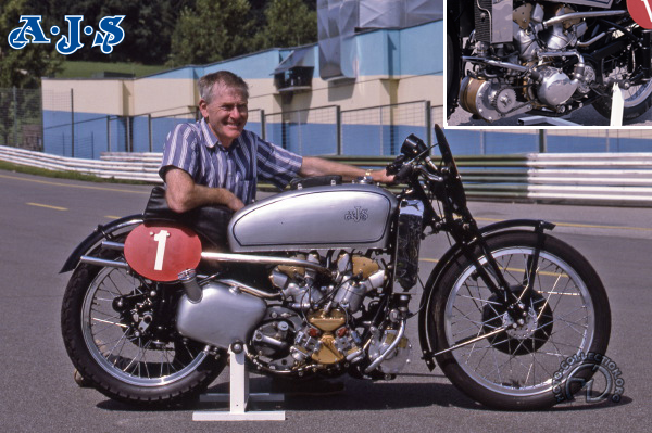 AJS Supercharged V4 motocyclette motorrad motorcycle vintage classic classique scooter roller moto scooter