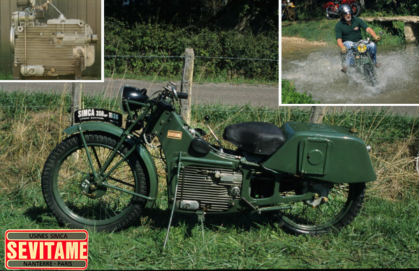 Sévitame Simca motocyclette motorrad motorcycle vintage classic classique scooter roller moto scooter