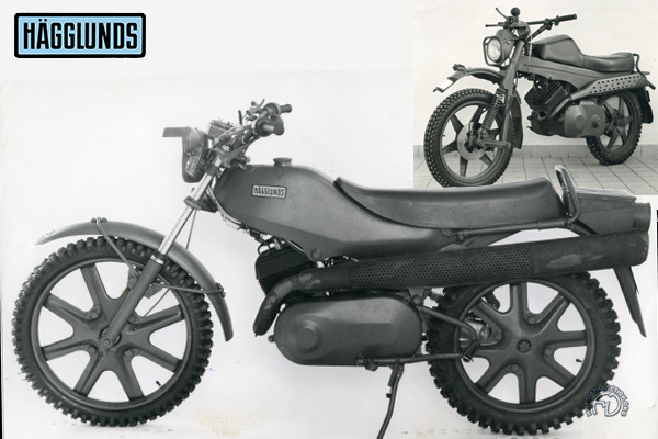Hägglunds XM 74 Enduro motocyclette motorrad motorcycle vintage classic classique scooter roller moto scooter