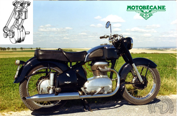 Motobécane (Motoconfort) L4C (N4C) motocyclette motorrad motorcycle vintage classic classique scooter roller moto scooter