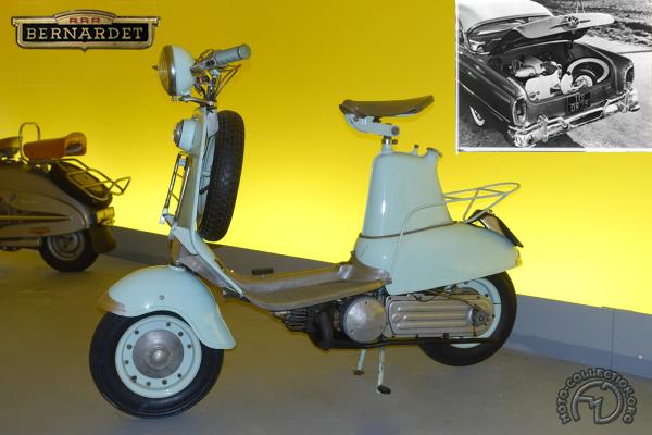 Bernardet Cabri motocyclette motorrad motorcycle vintage classic classique scooter roller moto scooter