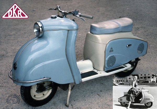 DKR Defiant motocyclette motorrad motorcycle vintage classic classique scooter roller moto scooter