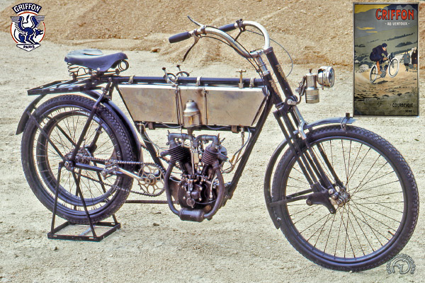 Griffon 5 HP & Ventoux motocyclette motorrad motorcycle vintage classic classique scooter roller moto scooter