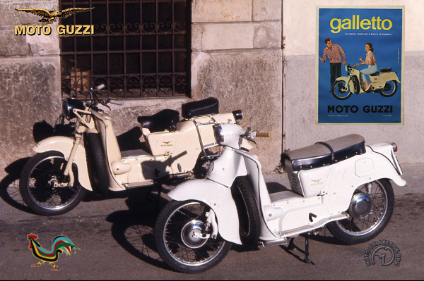 Moto Guzzi Galletto motocyclette motorrad motorcycle vintage classic classique scooter roller moto scooter