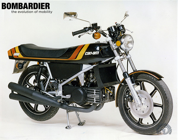 Can Am Bombardier  motocyclette motorrad motorcycle vintage classic classique scooter roller moto scooter
