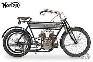 Norton 6 HP  motocyclette motorrad motorcycle vintage classic classique scooter roller moto scooter