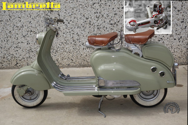 Innocenti Lambretta LD motocyclette motorrad motorcycle vintage classic classique scooter roller moto scooter