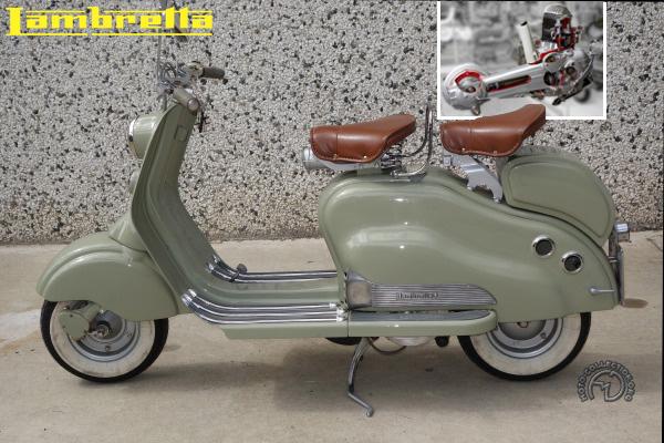 Innocenti Lambretta LD motocyclette motorrad motorcycle vintage classic classique scooter roller moto scooter