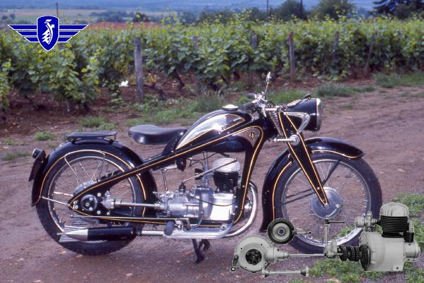 Zündapp KK motocyclette motorrad motorcycle vintage classic classique scooter roller moto scooter