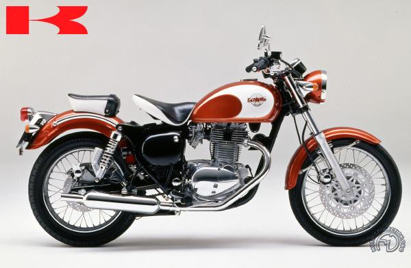 Kawasaki Estrella (BJ C1) motocyclette motorrad motorcycle vintage classic classique scooter roller moto scooter