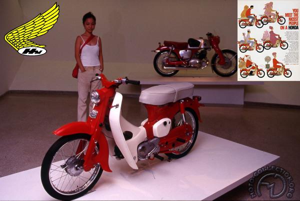 Honda C 100 Super Cub  motocyclette motorrad motorcycle vintage classic classique scooter roller moto scooter
