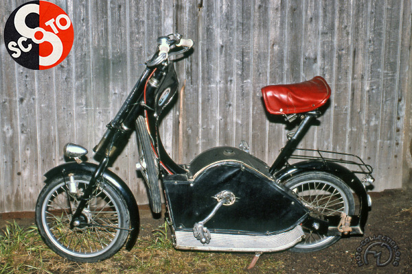 Tubauto Scoto motocyclette motorrad motorcycle vintage classic classique scooter roller moto scooter