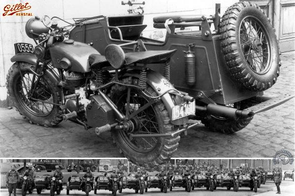 Gillet Herstal Armée motocyclette motorrad motorcycle vintage classic classique scooter roller moto scooter