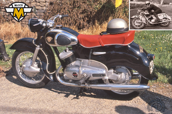 Maïco Taifun motocyclette motorrad motorcycle vintage classic classique scooter roller moto scooter