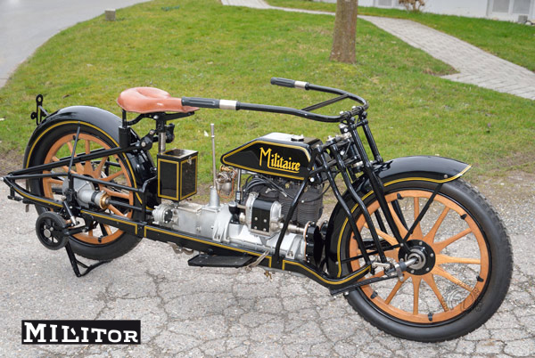 Militaire / Militor 1917 motocyclette motorrad motorcycle vintage classic classique scooter roller moto scooter