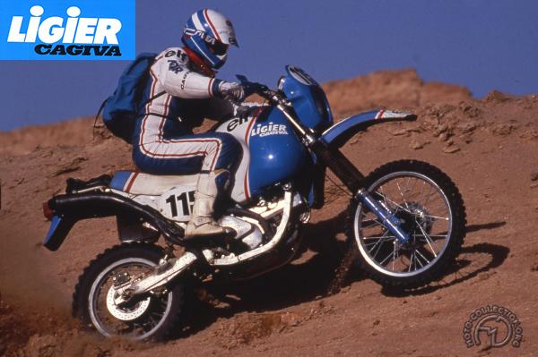 Cagiva Ligier Paris-Dakar motocyclette motorrad motorcycle vintage classic classique scooter roller moto scooter