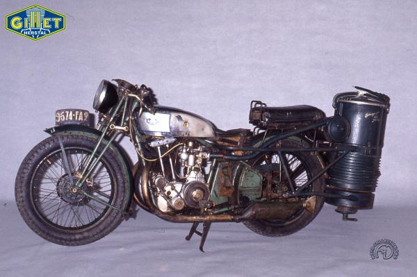 Gillet Herstal Sport Gazogène motocyclette motorrad motorcycle vintage classic classique scooter roller moto scooter