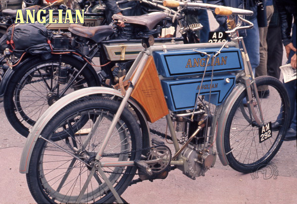 Anglian 2 3/4 HP motocyclette motorrad motorcycle vintage classic classique scooter roller moto scooter