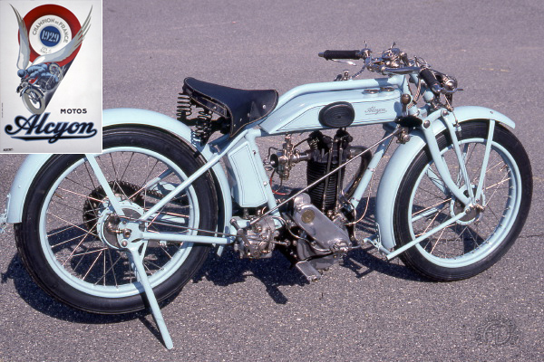 Alcyon SS 4 HP Super Sport  motocyclette motorrad motorcycle vintage classic classique scooter roller moto scooter