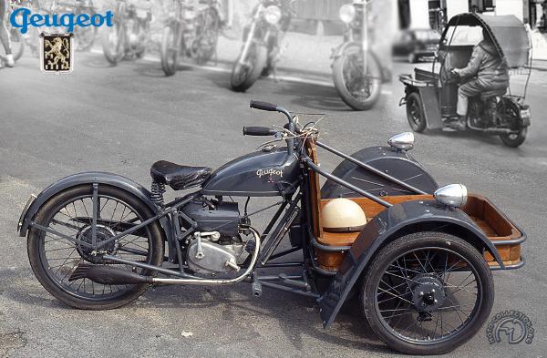Peugeot Triporteur 53 TM, 55 et 57 TN motocyclette motorrad motorcycle vintage classic classique scooter roller moto scooter