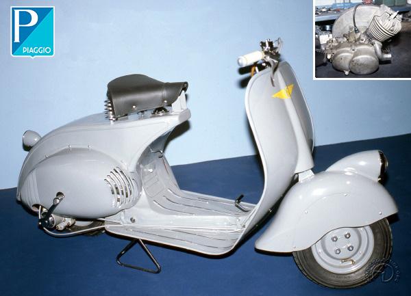 Vespa - Piaggio Vespa prototype motocyclette motorrad motorcycle vintage classic classique scooter roller moto scooter
