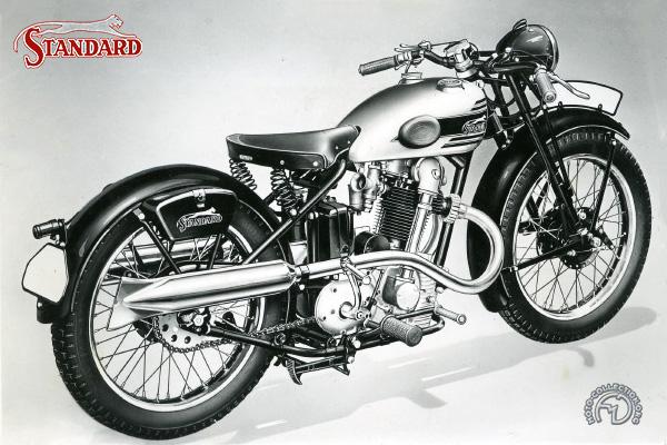 Standard Rex Super Sport motocyclette motorrad motorcycle vintage classic classique scooter roller moto scooter