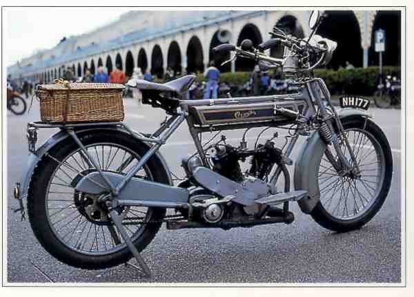 Clyno 4/5 HP motocyclette motorrad motorcycle vintage classic classique scooter roller moto scooter