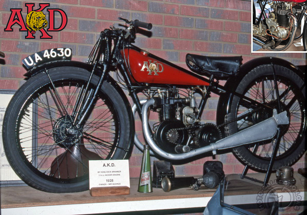AKD Abingdon King Dick Sport motocyclette motorrad motorcycle vintage classic classique scooter roller moto scooter