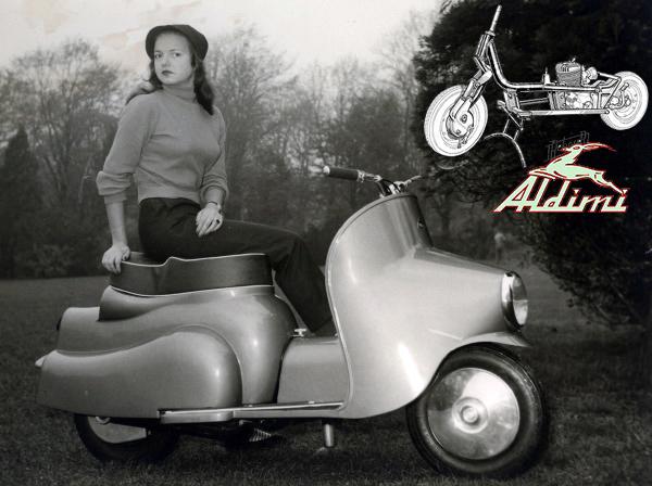 Aldimi Prince de Liège motocyclette motorrad motorcycle vintage classic classique scooter roller moto scooter