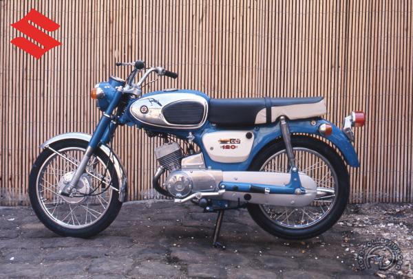 Suzuki B 120  & B 120 P motocyclette motorrad motorcycle vintage classic classique scooter roller moto scooter