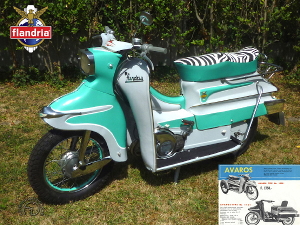 Flandria La Parisienne (type 4065) motocyclette motorrad motorcycle vintage classic classique scooter roller moto scooter
