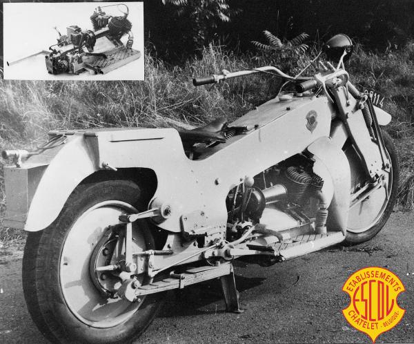 Escol Super Moto motocyclette motorrad motorcycle vintage classic classique scooter roller moto scooter