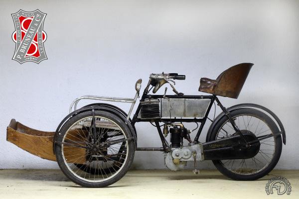 Bruneau Tricar Promeneur motocyclette motorrad motorcycle vintage classic classique scooter roller moto scooter