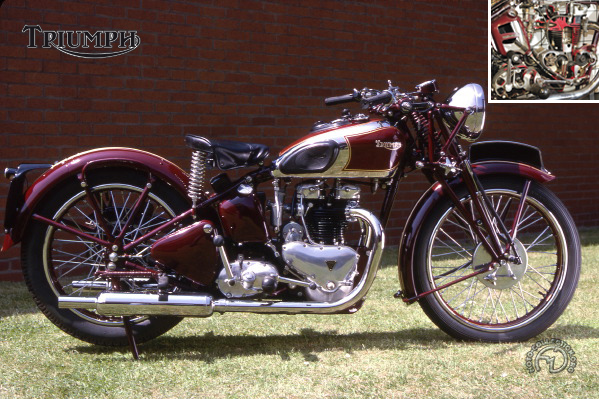 Triumph 5 T Speed Twin motocyclette motorrad motorcycle vintage classic classique scooter roller moto scooter